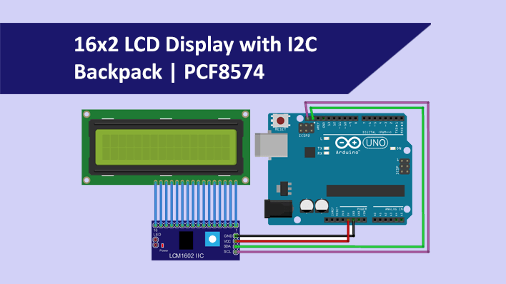 16x2 LCD Display with I2C   PCF8574 Library  FactoryForward
